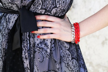 Beautiful look by Irene Colzi of the fashion blog Irene's Closet. Bracelets by Gemstudio!